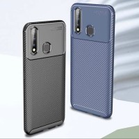 Case Oppo A31 2020 Rugged Armor Silicone Carbon Soft Casing - Hitam