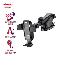CAR PHONE HOLDER VIVAN CHS05 Universal Suction Cup Automatic 360°
