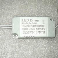 led driver high power led 24-36w hpl 1w 300ma 24-36 x 1w + box 220v Ac