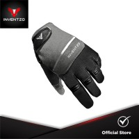 INVENTZO Fortunio Black Grey - Sarung Tangan Motor Sensitive Touch Tip