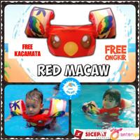 baju jaket rompi ban pelampung renang anak puddle jumper kiddie splash - Red Macaw