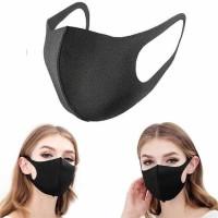 Masker KPOP Kain Polos Earloop Motor Debu Kesehatan Cuci Korea