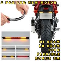 LED BRAKE STRIP LAMPU REM SIGN SEN MOTOR LAMPU PLAT MOTOR 17 CM