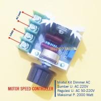Kit Dimmer AC 2000W Motor Speed Controller 220V 16A SCR PWM Regulator