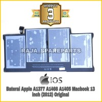 Baterai Apple A1377 A1466 A1405 Macbook 13 inch (2012) Original