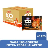 Gaga 100 GORENG Ektra Pedas jalapeno (1 dus = 40 pcs)
