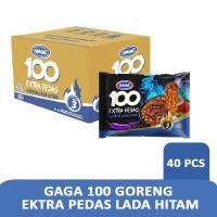Gaga 100 goreng ektra pedas lada hitam (1 dus = 40 pcs)