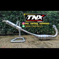 Knalpot Satria 2 Tak Hiu & Lumba Underbon/Repsol Stainless TNX Racing