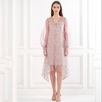 ATELIER MODE Cocktail Dress V Neckline Midi Length Rumi Dress Wanita - heather