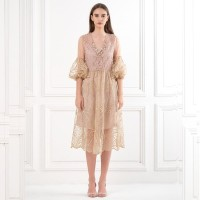 ATELIER MODE Cocktail Dress Midi Length Illusion Wrap Najma Dress