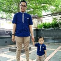 Baju Lebaran Couple Anak Ayah - Set Koko Couple Keluarga