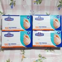 Sarung Tangan Latex Gloves Safeguard 100 pcs