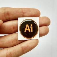 ADOBE ILLUSTRATOR Emblem Stiker Resin Aksesoris Casing PC dan laptop