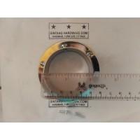 Dop Pipa Bulat 2 inch Bahan Kuningan Bracket Topi 50 mm DP001H /pcs