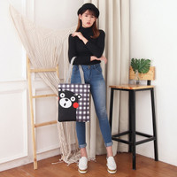 Tas wanita Women Tote Canvas Bag jinjing Civeto Kumamon cewek Import