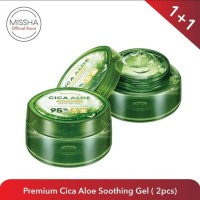 Paket Bundling Missha Premium Cica Aloe Soothing Gel 300ml Isi 2Pcs
