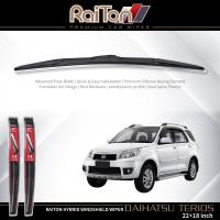 "Raiton Wiper Hybrid Sepasang Kaca Depan Mobil Daihatsu Terios 22""&18"""