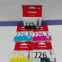 Tinta Printer Canon 726 1set 5 unit Original Garansi Resmi