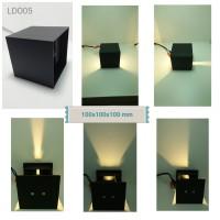 Lampu Dinding Outdoor LDO05 (100x100x100 mm) cahaya bisa diatur