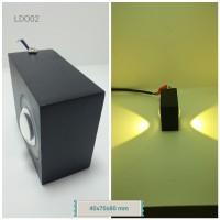 Lampu Dinding Outdoor LDO02 (40x70x80 mm) 2 lampu