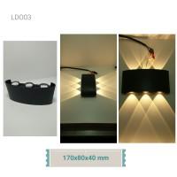 Lampu Dinding Outdoor LDO03 (170x80x40 mm) sorot 2 arah