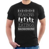Kaos Seasons Eating Zombies Christmas Knit T-shirt