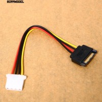 Kabel Power Adapter Connector 4Pin Male to IDE SATA 15 Pin Female