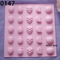 CTS-0147 Cetakan silikon silicone coklat fondant puding pudding buah