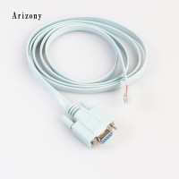 Arzy Kabel Ethernet 5ft 9PIN DB9 RS232 to RJ45 CAT5 Rollover untuk