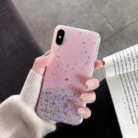Casing Samsung A51 Star Glitter Color Soft Case - Merah Muda