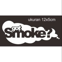 sticker cutting motor mobil got smoke jdm71