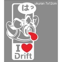 sticker cutting motor mobil i love drift jdm69