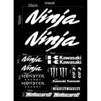 sticker cutting set body motor kawasaki ninja