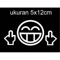 sticker cutting motor mobil smile jdm52