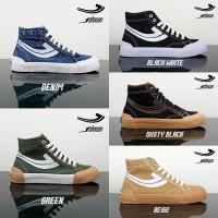 Sepatu Johnson Galaxy Hi Low Dusty Black / Green / Beige / Black / Red