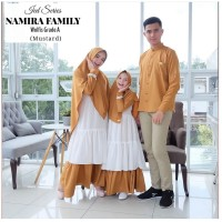 Baju Muslim Couple Keluarga Koko Gamis Longdress Syari