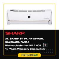 AC SPLIT SHARP 3/4 PK R32 SAYONARA PANAS NON INVERTER - AH-AP7UHL