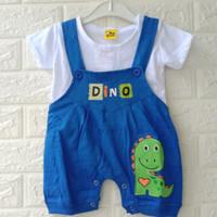 Overall Bayi One Set Fashion Baju Kodok Jumper Baby 2-12bulan