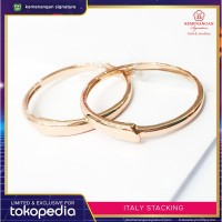 Cincin Emas italy Stacking Rosegold ring size 13, 15