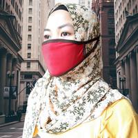 Masker Kain Bahan Double Jersey Dapat Dicuci Praktis Dipakai