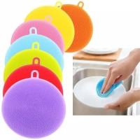 Spon Cuci Piring Silikon Dish Sponge Silicone Cleaning Wash