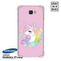 Rainbow Unicorn Casing Samsung Galaxy J7 Prime Anti Crack Case HP