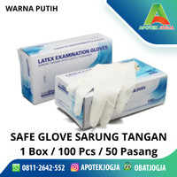 Sarung tangan latex karet / Handscoon Safe Gloves Latex Ukuran L