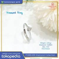 Cincin Berlian Forever Shape Round ring size : 10,5