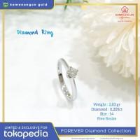 Cincin Berlian Forever Shape Square Emas Putih ring size : 14