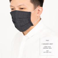 Ready Stock Masker Hijab / Masker Kain Polos Bahan Oxford Tali Panjang