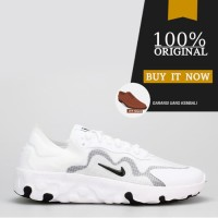 Sepatu Sneakers Pria Original Sepatu Nike Renew Lucent - White/Black