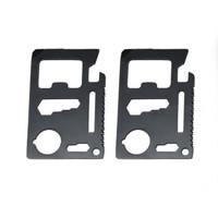 B81 Pisau Kartu Multifungsi Stainless 11 in 1 Survival Kit Tool Card