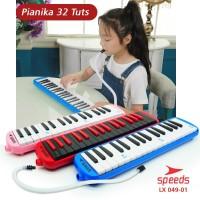 Alat Musik Pianika Tas Set Keyboard Mainan Anak Free 2 Selang 049-01A - Hitam Merah