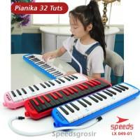 Alat Musik Pianika Tas Set Keyboard Mainan Anak Free 2 Selang 049-01A - Merah Muda